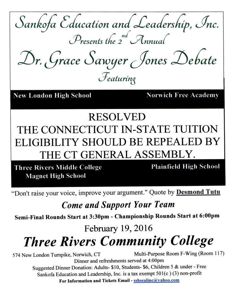 2016 debate flyer