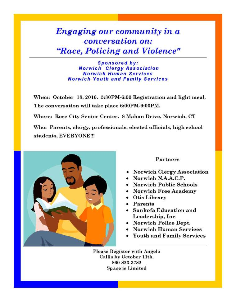 Community conversation on Race, Policing and Violence